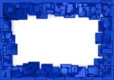 Blue squared border. Abstract blue photo frame with squared effect Royalty Free Stock Images