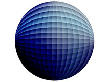 Blue squared globe Stock Images