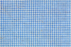 Blue Squared Pattern with Embedded Fibers in the Texture Royalty Free Stock Images