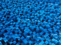 Blue squared surface Royalty Free Stock Photo