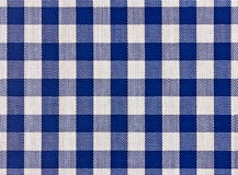 Blue squared tablecloth Royalty Free Stock Images