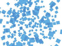 Blue squares. Abstract background with transparent blue squares on white Stock Photos