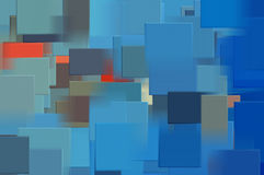Blue squares Stock Image