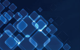 Blue squares - abstract background Royalty Free Stock Images