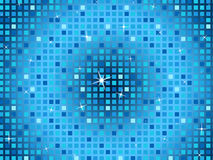 Blue Squares Background Shows Light Glinting And Celebration. Blue Squares Background Showing Light Glinting And Celebration Royalty Free Stock Photo