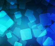 Blue Squares Bokeh Royalty Free Stock Photography