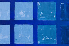 Blue Squares Canvas Painting Royalty Free Stock Image
