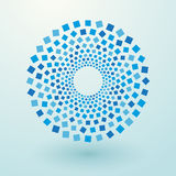 Blue squares. Circles of the blue squares Royalty Free Stock Image