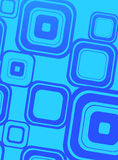Blue squares on cyan Stock Photos