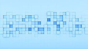 Blue squares 3D render. Blue squares. 3D render abstract background Royalty Free Stock Photos