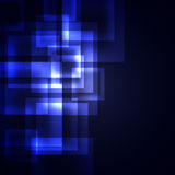 Blue squares on a dark background Stock Image