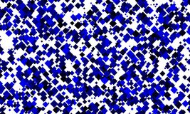 Random blue Squares. Blue squares generated randomly and rotated 45 Stock Images