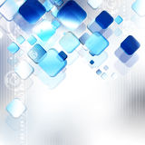 Blue squares on gray background Royalty Free Stock Photo