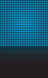 Blue Squares Grid Layout. Geometric blue squares illustration with reflections and copyspace Royalty Free Stock Images