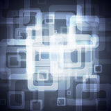Blue Squares On A Dark Background Stock Photography