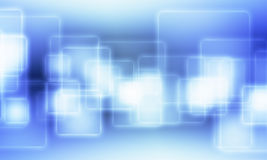 Blue squares with outer glowing Stock Photography