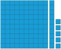 Blue squares pattern on white background Stock Image