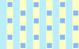 Blue squares on stripes. Light Blue and cream stripes pulsating with royal squares creating a diagonal movement Stock Image