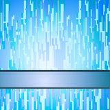 Blue squares techno background. With a stripe for header copy Royalty Free Stock Photo