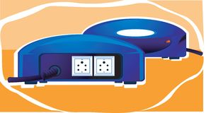 Blue stabiliser with plug Royalty Free Stock Image