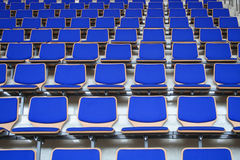 Blue Stadium Bleachers Royalty Free Stock Image