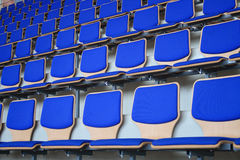 Blue Stadium Bleachers Stock Photography