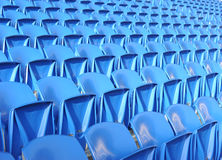 Blue stadium chairs Stock Image