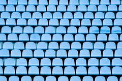 Blue stadium chairs Royalty Free Stock Photography