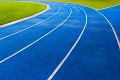 Blue Stadium Floors for fitness or competition Bangkok Thailand Royalty Free Stock Photography
