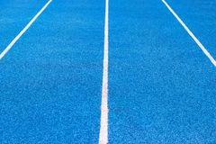 Blue Stadium Floors for fitness or competition Bangkok Thailand Stock Image