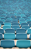 Blue Stadium seating in rows Royalty Free Stock Photography