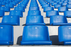 Blue stadium seats. The blue stadium seats backgraund Royalty Free Stock Photo