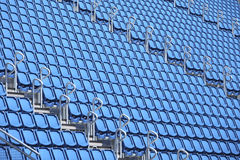 Blue stadium seats Royalty Free Stock Images