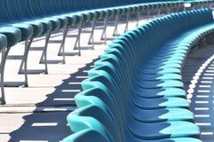 Blue stadium seats Stock Images