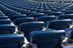 Blue Stadium Seats Stock Photography