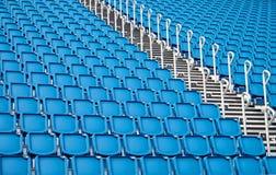 Blue stadium seats Royalty Free Stock Photos