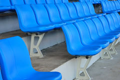 Blue stadium seats Stock Photo