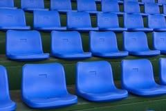 Blue stadium seats Royalty Free Stock Images