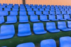 Blue stadium seats Stock Photography