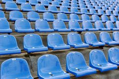 Blue stadium seats with numbering Stock Photography