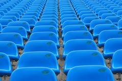 Blue Stadium Seats Royalty Free Stock Photos