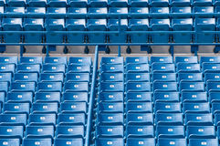 Blue stadium seats Royalty Free Stock Photography