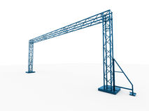 Blue stage construction rendered isolated Stock Image