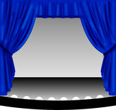 Blue Stage Curtain Royalty Free Stock Images