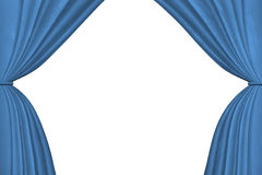 Blue stage curtains Stock Photography
