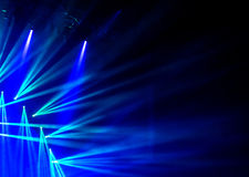 Blue stage light. Abstract background, illuminated dance club, night performance, laser illumination, luxury rock concert projector Royalty Free Stock Image
