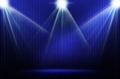 Blue stage light as background Royalty Free Stock Photography