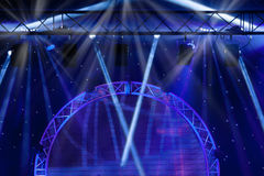 Blue Stage Lights, light show at the Concert Royalty Free Stock Photography