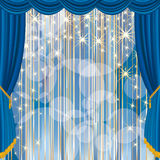 Blue stage stripped Royalty Free Stock Photos