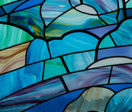 Blue Stain Glass Stock Images